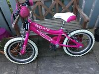 "Girl's 14"" Bike with stabilisers"
