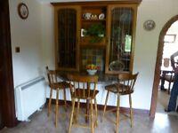 Complete oak kitchen including units, cooker, hob, sink, fridge, freezer
