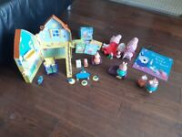 Peppa Pig house and toys
