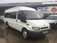 2003 ford transit 17 seat minibus 2.4 tddi 159.000 miles from new with all old mots 11m mot