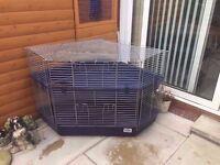 Indoor rabbit cage double decker