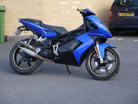 CPI GTR 50 2 stroke scooter moped bike for spares or repair 2008 blue