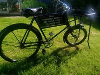 Raleigh Delivery Bicycle, Vintage, recently restored
