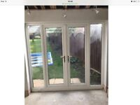 WANTED - WHITE UPVC FRENCH PATIO DOORS AND SIDE PANELS