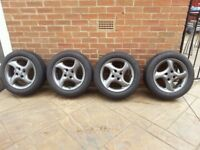205/55/16 set of 4 brand new tyres on ford alloys done less than 200 miles, Bargain £150 no offers