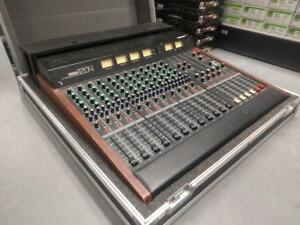 YAMAHA MC1204 VINTAGE MIXING CONSOLE WITH ANALOG METERS AND ROAD CASE !