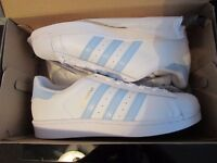 Adidas Superstar Womens Trainers, Unworn In Box with Tags size 8