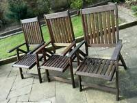 Top Quality Set of 3 Garden Chairs £75!