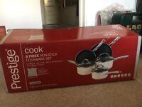 Brand new prestige 5 piece non-stick cookware set