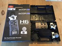 Zoom H6 - 6 Track Portable Recorder - boxed, A1 condition.