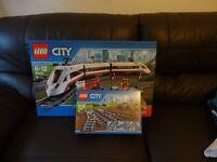 LEGO 60051 and LEGO 7895 City High-Speed Passenger Train & tracks brand new