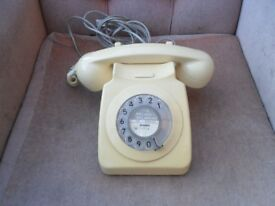 VINTAGE CREAM BT DIAL HOME HOUSE PHONE.