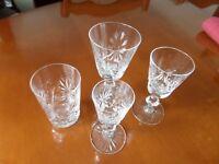 SET EDINBURGH STAR OF EDINBURGH CRYSTAL GLASSES
