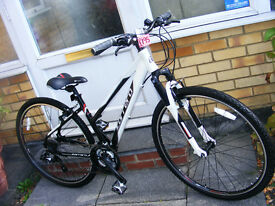 "LADIES CARRERA HYBRID CROSS FIRE BIKE 17"" ALUMINIUM FRAME HARDLY USED"