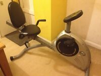 Exercise Bike ( Recumbent ) Programmable . Free delivery in Portsmouth area.