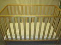 Mothercare baby cot.