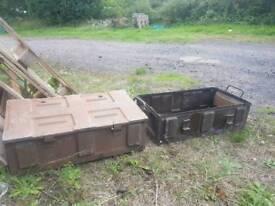 2x WW2 ammo cases