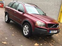 VOLVO XC90 2.4 DIESEL AUTOMATIC 4X4 GREAT DRIVE MOT ALLOYS CHEAP CAR 7 SEATER FAMILY CAR NO X5 X3 ML