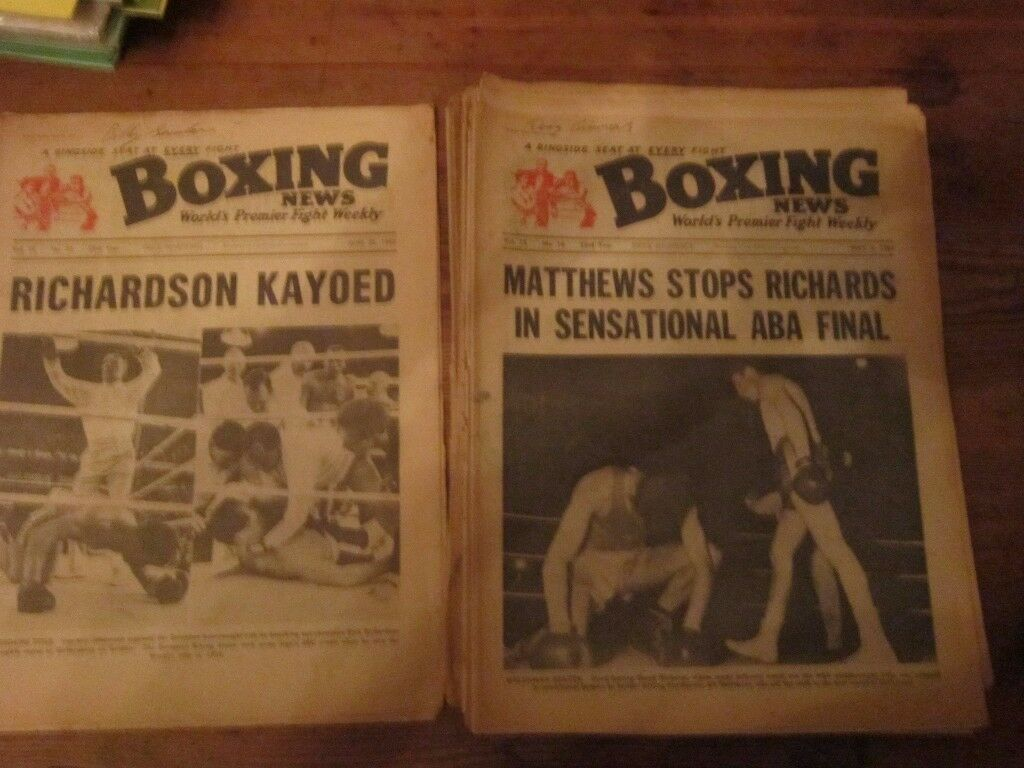 26 issues of boxing news dating from 1960-1965