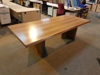 RED OAK BOARDROOM / MEETING/ CONFERENCE TABLE 252CM LONG