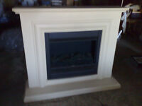 Wall Mounted Fore place with flame effect very good condition