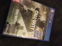 Ps4Call of duty infinite warfare legacy edition remastered not available due to codes from using it