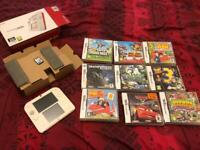 DS2 with 4GB memory card & 9 games