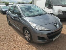 PEUGEOT 207 2009 59 1.4 LTR PETROL SERVICE HISTORY 1 YEAR MOT ONLY 71000 MILES!!!