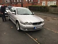 2001 jaguar x type 2.5 v6 petrol leather seats touch screen stereo with built in sat nav