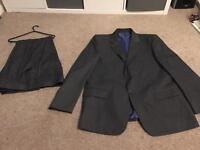 M&S Men's Machine Washable Grey Suit