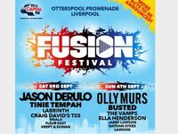 Fusion Festival Tickets Liverpool Saturday 3rd and Sunday 4th September