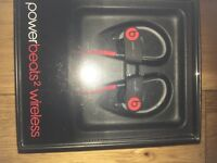 Beats Powerbeats 2 Wireless Bluetooth Earphones - Red/Black (brand new and boxed)