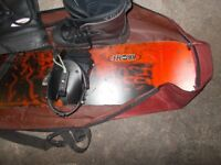 Livigno Nnowboard and Bag with Euro size45 boots