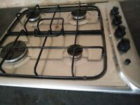Indesit stainless steel gas hob