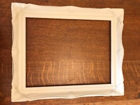 Wooden shabby chic picture frame