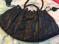 Real leather handbag