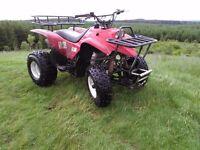 2014 QUADZILLA 300cc 2WD FARM QUAD,AS NEW,UNDER 30hrs USE