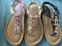 Girls channel sandals size 1-2