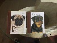 Dog books Rottweiler or pug new
