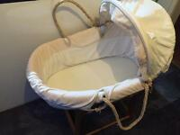 Unisex cream Mothercare Moses basket