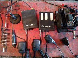 Job lot CB radio transceiver gear Midland Alan 121 78 Sirio mag