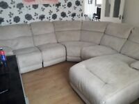 Can deliver john lewis fabric corner sofa with chaise and recliner end very good condition