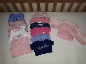 Baby girl first size clothing bundle