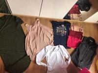 Black bag of women's clothes, size 8-10