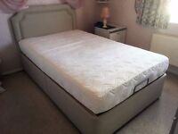 Small double electrically adjustable mobility bed with firm memory foam mattress