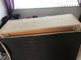 Double divan bed frame free