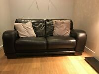 Dfs Brown Leather 2x2 Seater sofas