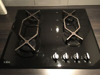 CDA 4 Burner Gas Hob - Black Glass ( HVG620BL)