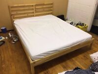 Double bed (queen size) and foam mattress in prefect condition