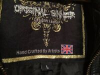 LEATHER JACKET HAND CRAFTED BY ARTIST IN AMAZING CONDITIONS VERY EXPENSIVE ONLY £80!!! SIZE L